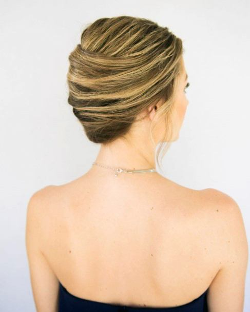 Simple Highlighted French Twist For Women And Girls
