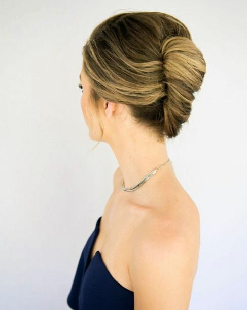 Simple Highlighted French Twist Tuck For Women And Girls