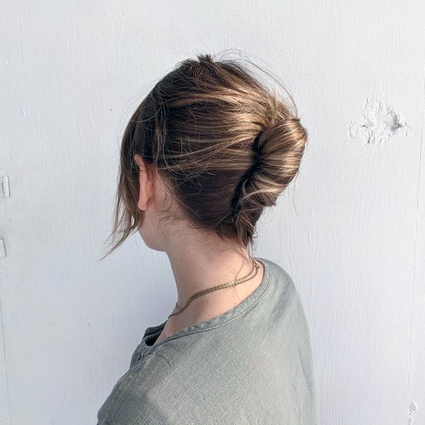 Simple Highlighted Loose But Tucked French Twist For Women And Girls