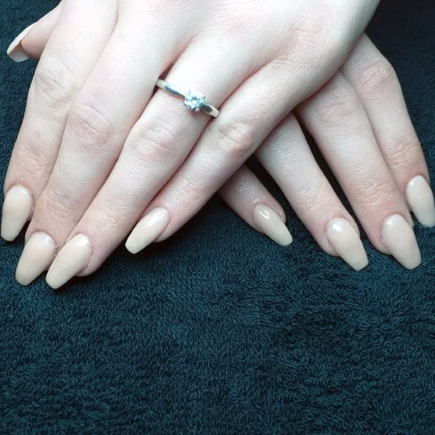 Simple Light Nude Nails For Women