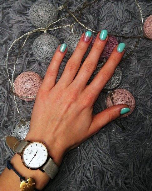 Simple Mint Nails Ideas For Women
