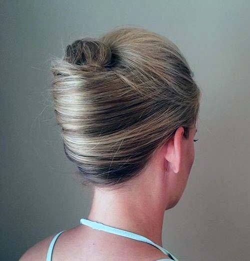 Simple No Nonsense Thin And Highlighted French Twist For Women