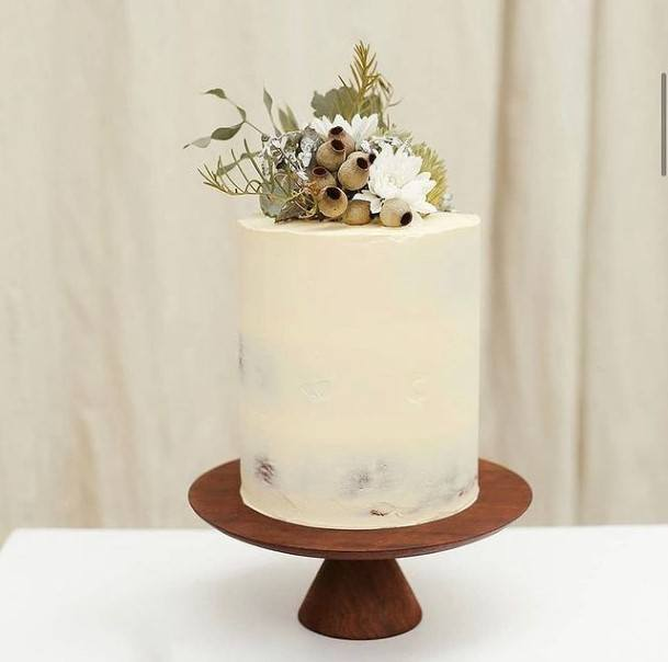 Simple Rustic Cake Wedding Toppers