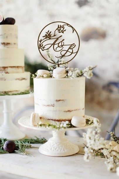 Simple Rustic Wedding Cake Toppers