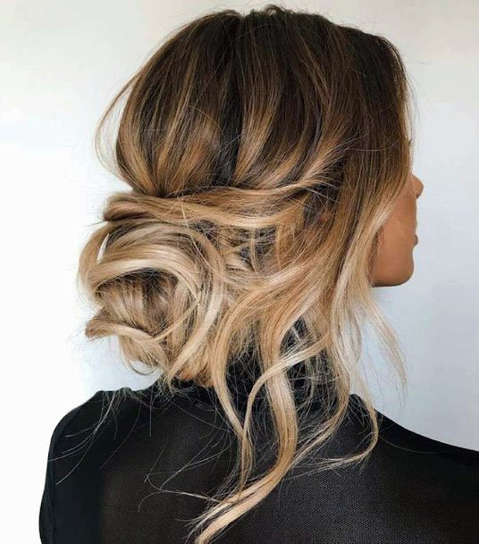 Simple Scrunched Bun Hairstyle For Women