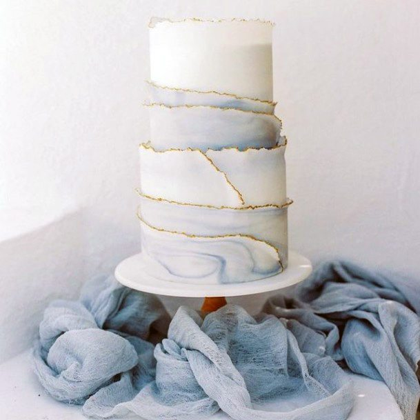 Simple Wooden Based Wedding Cake Stand Women Blue