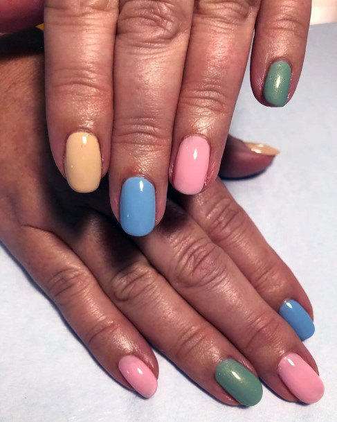 Simply Colored Nails