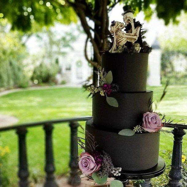 Skeletons In Love Halloween Wedding Cakes