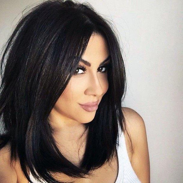 Sleek Brunette Hairstyle For Women