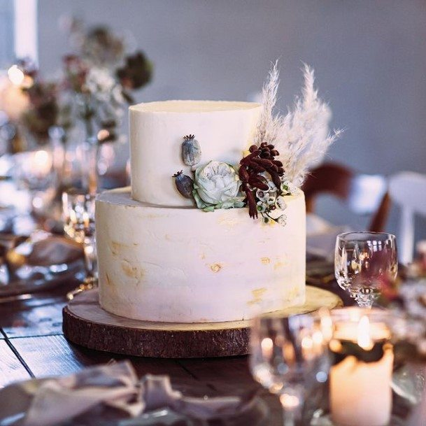 Small 2 Tier Wedding Cake