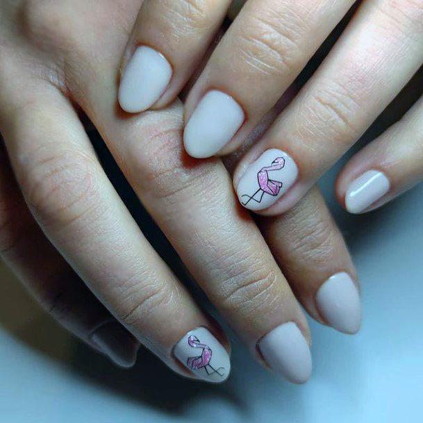 Small Nails Flamingo Women