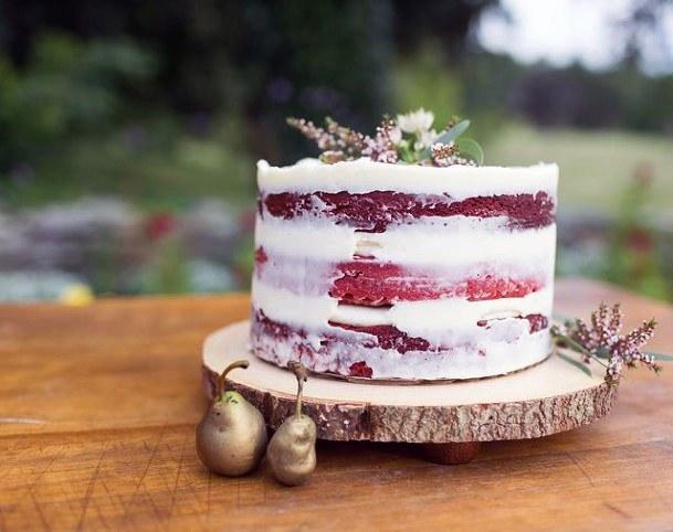 Small Red Velvet Wedding Cake