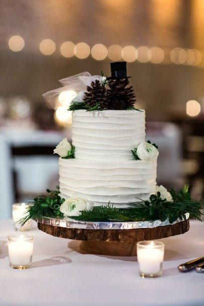 Small Rustic Wedding Cake Toppers