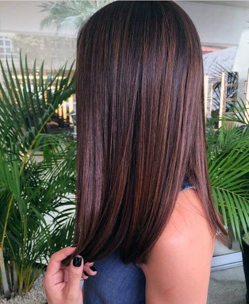 Smooth Brunette Hairstyle For Women