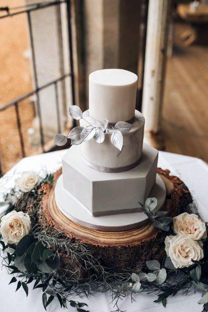 Smooth Marble 3 Tier Wedding Cake Women
