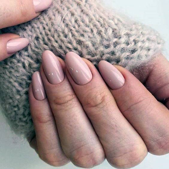 Smooth Natural Nail Ideas For Women