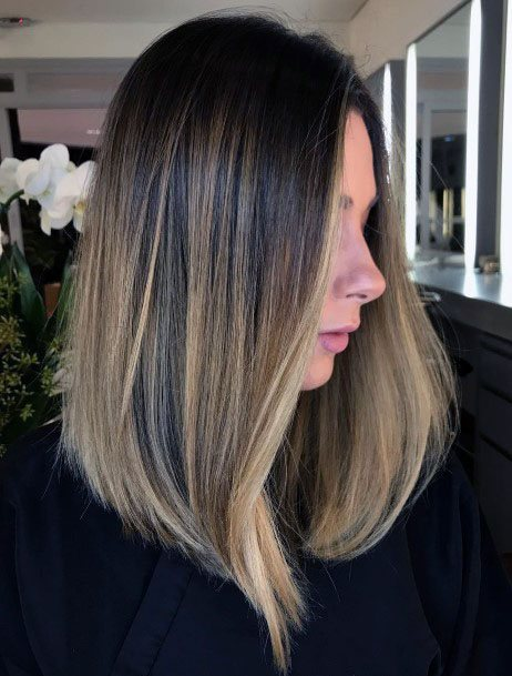 Smooth Straight Free Flowing Balayage Women