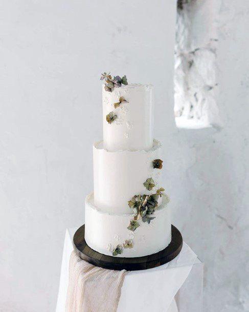Smooth White 3 Tier Wedding Cake Women