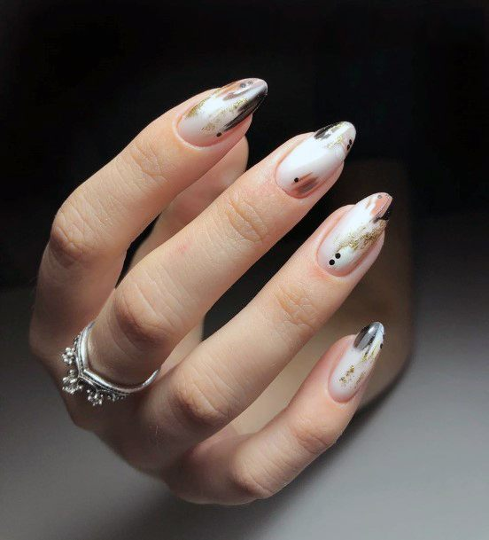 Smoth Milky Whie Art Charming Nails Women