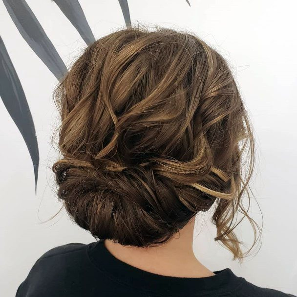 Snarled Messy Chignon Hairstyle Women