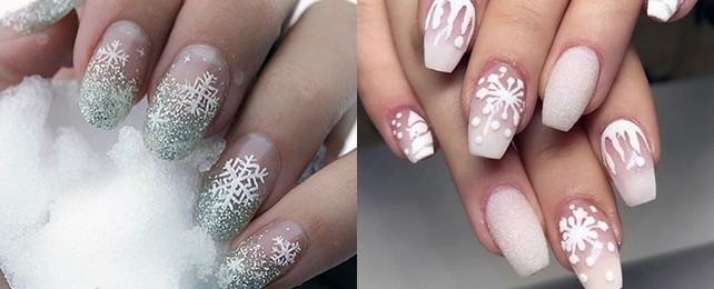 Top 50 Best Snow Nails For Women – Cool Icy Design Ideas