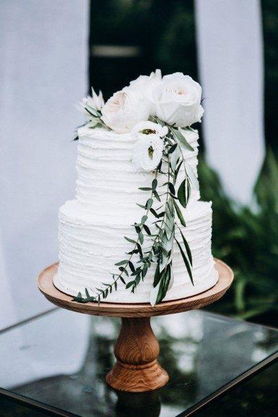 Snow White Buttercream Wedding Cake