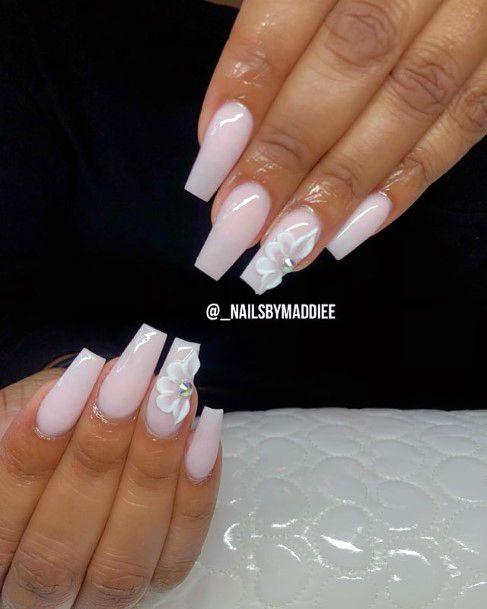 Snow White Nails 3d Flower Women
