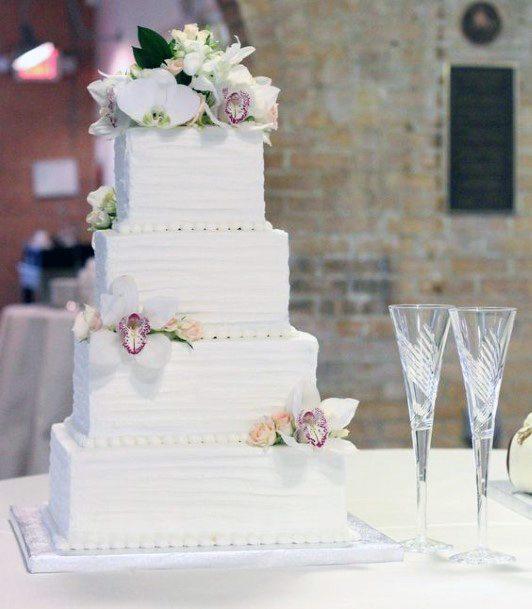 Snow White Square Wedding Cakes