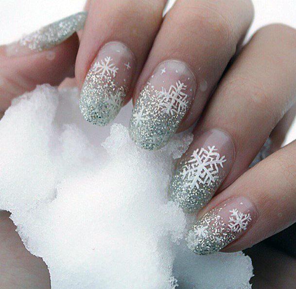 Snow White Transparent Nail Art For Women