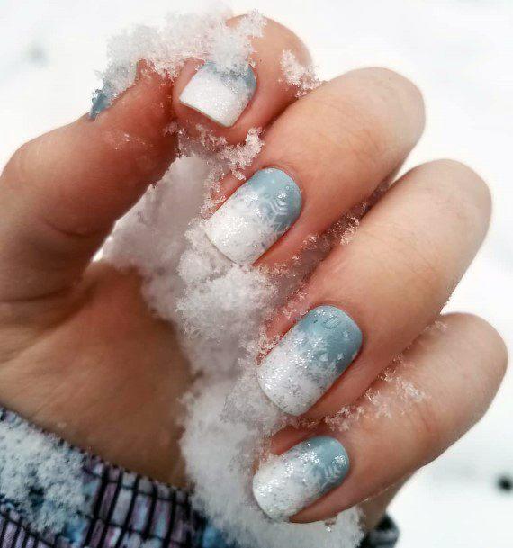 Snow White Winter Nails Women
