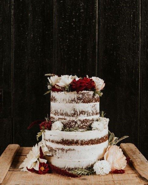 Snowy Chocolate Wedding Cake