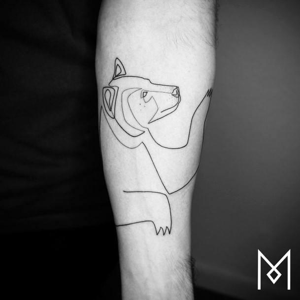 Soft Bear Tattoo For Women On Hands Art