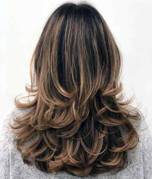 Soft Caramel Curls Medium Length Hair Women