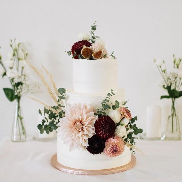 Soft Flowers Rustic Wedding Cake Toppers