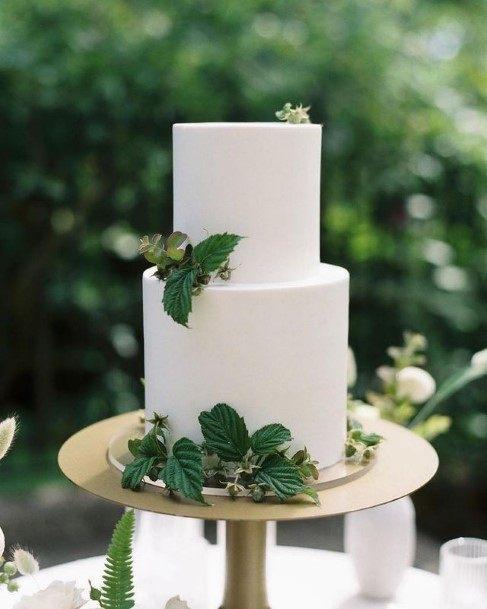 Soft White 2 Tier Wedding Cake