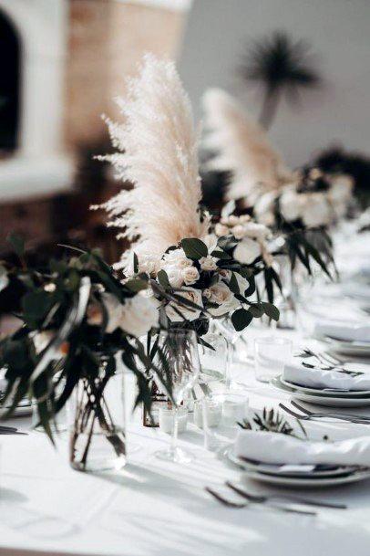 Soft White And Green Boho Wedding Flowers