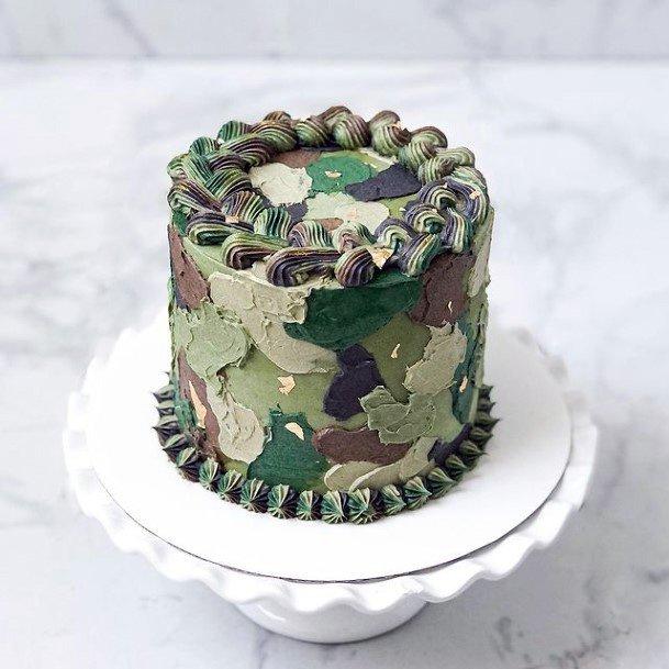 Soldier Camo Wedding Cake