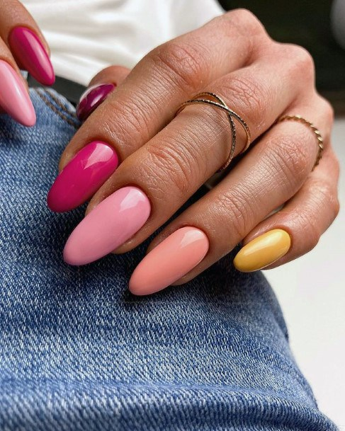 Solid Colors April Nails Women