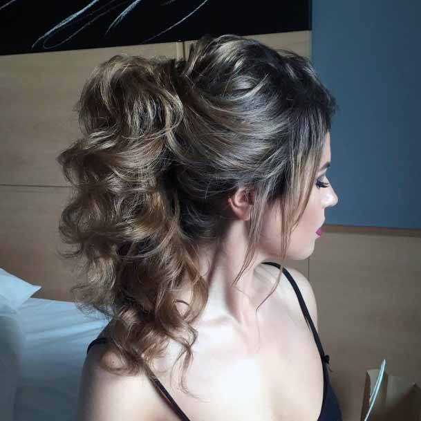 Sophisticated Pony Curled Hair Women