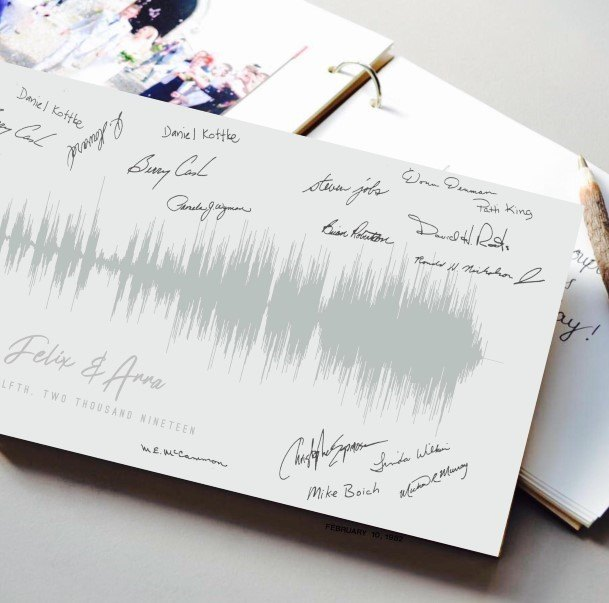 Sound Graph Wedding Guest Book Ideas