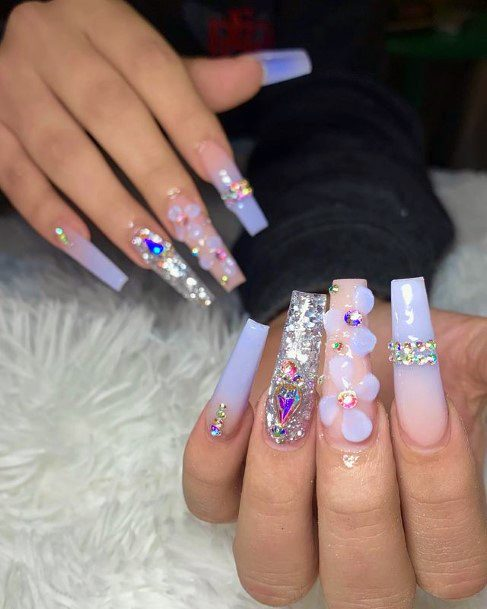 Sparkles And Round 3d Nail Art Women