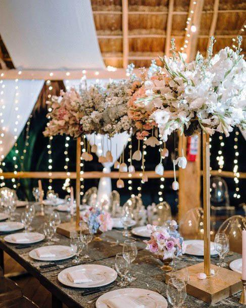 Sparkling Beach Wedding Flowers