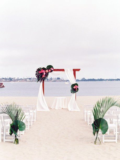 Spectacular Beach Wedding With Tropical Flowers