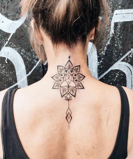 Spine Tattoo For Women Art