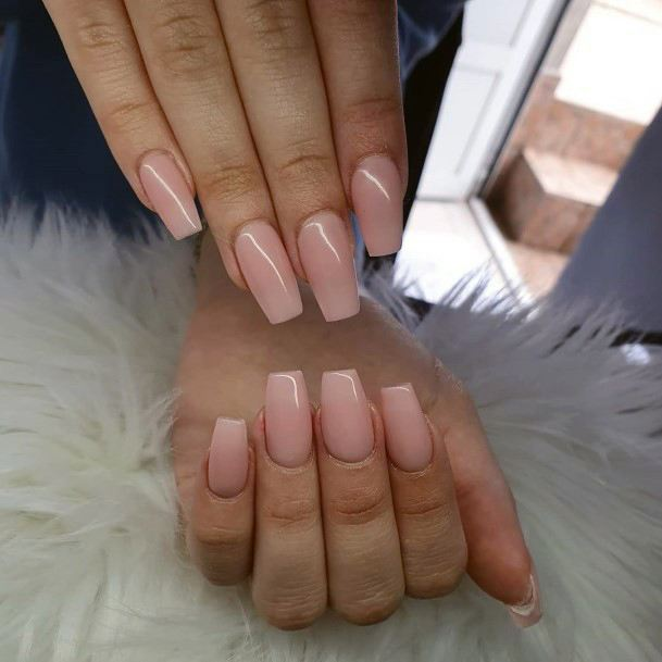 Squaoval Natural Nail Ideas For Women