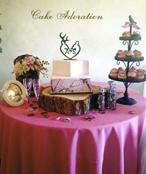 Square Camo Wedding Cakes