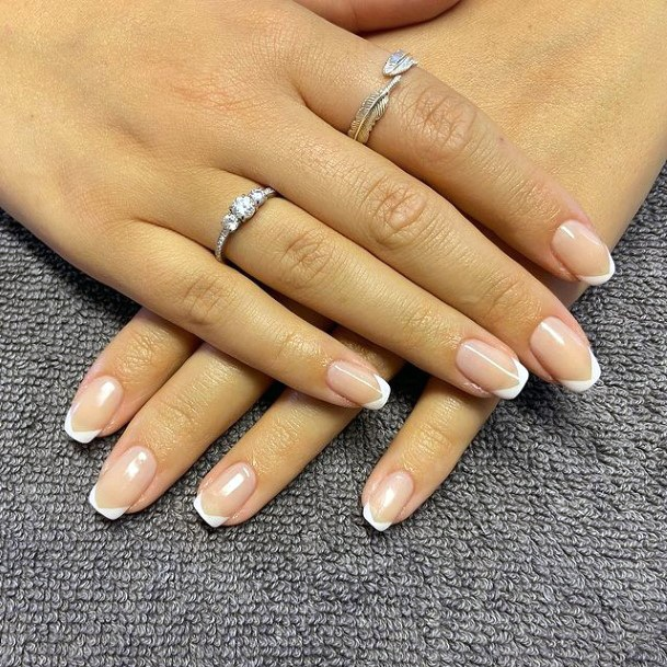 Square French Manicure April Nails Women