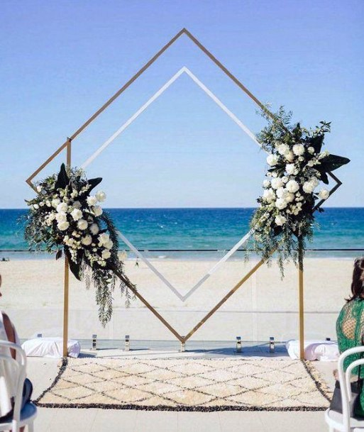 Square Platform May Wedding Flowers