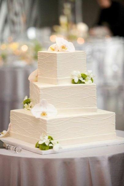Square Shaped Cake Wedding White