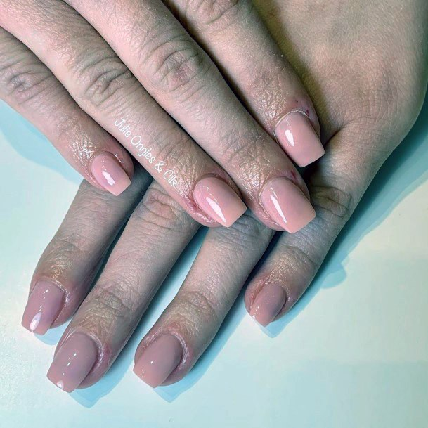 Square Tipped Natural Nail Ideas For Women